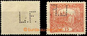 46054 - 1919 2ks Hradčanských zn. 15h s perfinem L.F. firmy Förbe