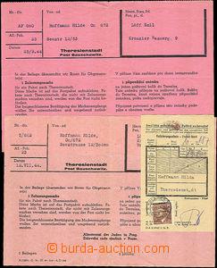 46055 - 1944 TEREZÍN  2 pcs of blank form/-s for sending admission