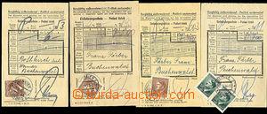 46063 - 1943-44 KT BUCHENWALD  4ks podacích lístků na balík adre