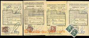 46063 - 1943-44 C.C. BUCHENWALD  4 pcs of certificates of mailing fo