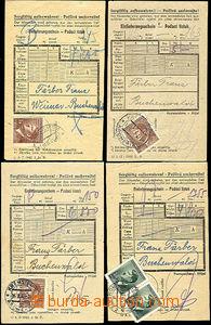 46064 - 1943-45 C.C. BUCHENWALD  4 pcs of certificates of mailing fo