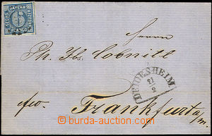 46075 - 1864 folded cover of letter with 6 Kreuzer, Mi.10 (cut from