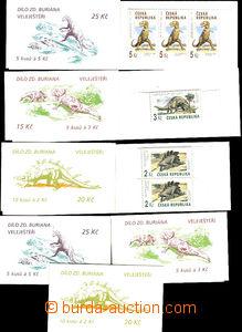 46085 - 1994 ZS20-22, Prehistoric Dinosaurs, 3 complete sady(!) book