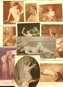 46104 - 1925 comp. 15 pcs of reproduction artistic work with women's
