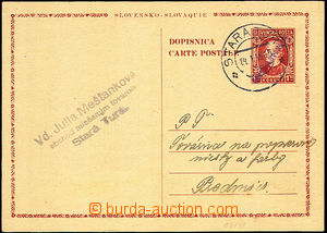 46153 - 1946 CDV VI  Slovak card abroad 1,50 Koruna Hlinka with hand