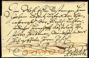 46154 - 1667 nobiliary correspondence, folded letter sent from Brno
