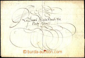 46156 - 1614 skládaný dopis s papírovou pečetí císaře Matyá�