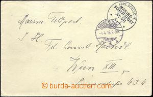 46157 - 1915 NĚMECKO  dopis německé lodní pošty adresovaný do