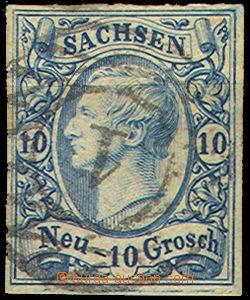 46173 - 1856 Mi.13 10Ngr, wide margins, c.v.. 280€