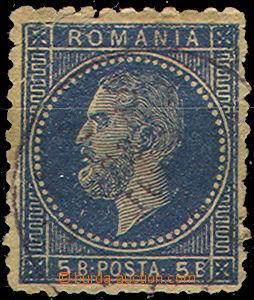 46178 - 1876 Mi.44F, 5 Bani modrá(!), c.v.. 120€