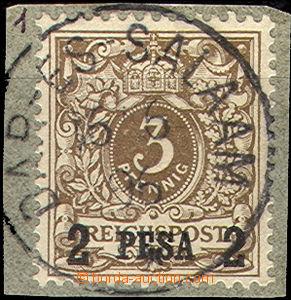 46187 - 1893 DEUTSCH-OSTAFRIKA  Mi.1, 2PE/3Pf, hezké razítko DAR-E