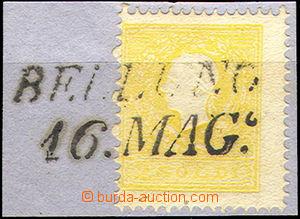 46198 - 1858 LOMBARDSKO-BENÁTSKO  Mi.6 II.typ, 2So žlutá, hezké řádk