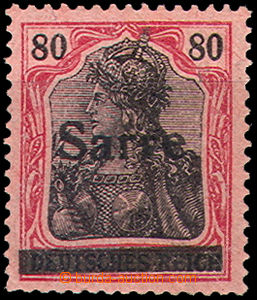46201 - 1920 SAARGEBIET  Mi.16, 80Pf carmine, very lightly hinged, c