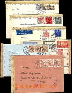 46210 - 1942-44 ŠVÝCARSKO  sestava 6ks dopisů zaslaných do Prote