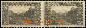 46232 - 1906 Mi.35, pair with shift vertical perf between stamps