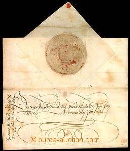 46233 - 1602 imperial letter sent from Prague to Tábor, with signatu