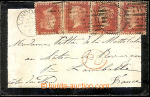 46244 - 1865 mourning envelope sent from London 29.Jy.65 to France,