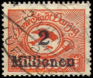46255 - 1923 DANZIG  Mi.179, inflation air stamp. with readable oval