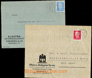 46261 - 1929-32 GERMANY  2 pcs of ID envelopes franked by stmp issue