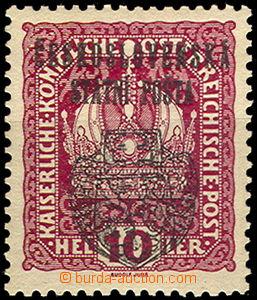46270 - 1918 Pof.RV25, hodnota 10h s Pražským přetiskem II. velk�