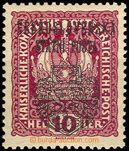 46270 - 1918 Pof.RV25, value 10h with Prague overprint II. large emb