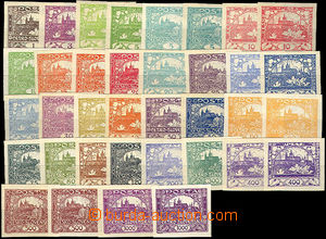 46470 -  Pof.1-26, selection of 36 pcs of stamp. with color shades i