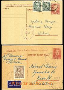 47178 - 1952 Mi.P142, vydání VI.50, 2ks, různý propagační text. Obě