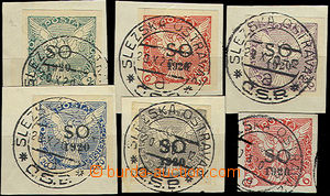 47212 -  Pof.SO28-SO32, complete set, all on small cut-squares, CDS