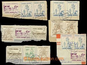 47454 - 1955 ČSR II. / CVIČNÉ ZNÁMKY  sestava 6ks výstřižků