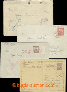 47490 - 1941-3 BRNO  PC from prisoner in/at Kounic Dormitory + 3 let