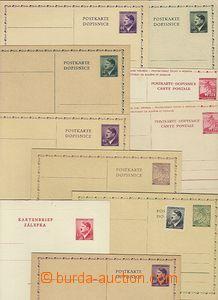 47496 - 1939-42 sestava 9ks dopisnic (CDV2, 10, 12, 13/II, 2x 15, 2x