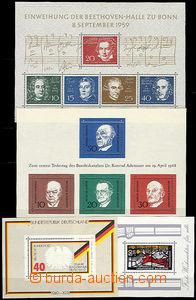 47507 - 1959-78 sestava 10ks různých aršíků, Mi.Bl.2, Bl.4, Bl.