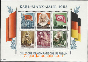 47511 - 1953 Mi.Bl.8A miniature sheet Karl Marx, mint never hinged,
