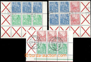 47512 - 1955 Mi.W5, SZ1, SZ2 from sheets MHB1-3, blocks of 6 with St