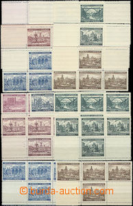 47523 - 1939-40 Pof.36a, 37a, 45, 46, 47, 48 and 49, variants of cou