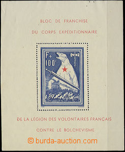 47525 - 1941 FRANKREICH Mi.Bl. I., miniature sheet French Legion (Be