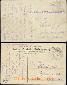 47529 - 1917 2 pohlednice adres. do Čech, DR FELDPOST/ MIL. MISS./