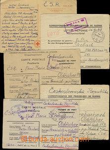 47539 - 1946-47 comp. 4 pcs of folded letters + 1 card Swiss of Red