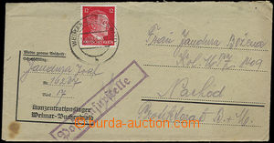 47541 - 1943 Concentration camp BUCHENWALD, letter in original camp