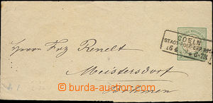 47575 - 1872 newspaper wrapper Mi.S1 (Small Emblem) addressed. to Bo