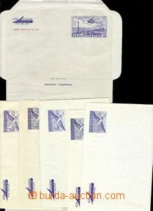 47659 - 1959-67  air letter1A (3 pieces) + air letter1B (2 pieces),