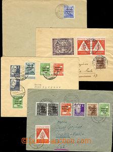 47729 - 1948 SOVIET ZONE  comp. 4 pcs of letters sent to Czechoslova