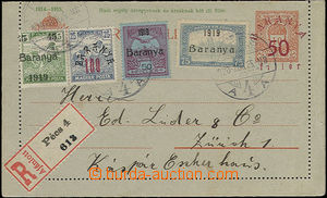 47758 - 1920 Occupation of Serbia: Mi.K3, letter card 10f with Baran