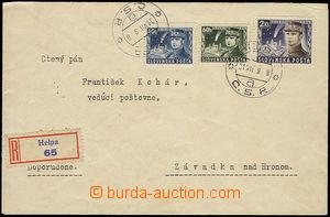 47764 - 1939 R dopis vyfr. zn. Alb.34, 35, 37, DR Helpa 31.VII.39, b