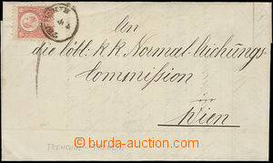 47765 - 1874 folded letter with Mi.10, CDS Trenchin 4.6., addressed.