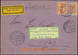 47804 - 1928 airmail  letter sent to the Czechoslovakia pid by Mi.14