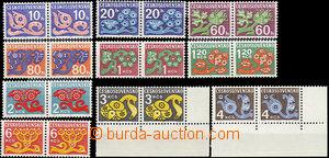 47823 - 1971 Pof.D92-93, 95-101, 103, Květy, vše ve 2-páskách na