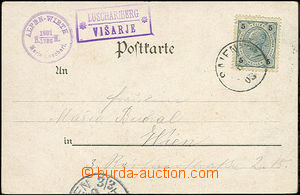 47832 - 1903 postcard with postal agency pmk LUSCHARIBERG/ VIŠARJE