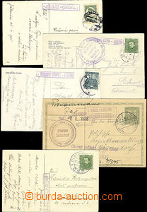 47833 - 1919-38 comp. 10 pcs of Ppc and CDV with postal agency pmk,
