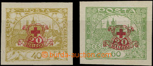 47888 - 1920 Pof.170-1Nc, imperforated with added print, nice shapes